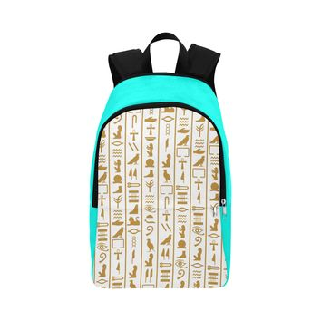 Egyptian Print Fabric Backpack for Adult