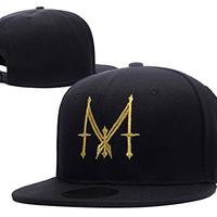 RHXING Madonna M Logo Adjustable Snapback Embroidery Hats Caps