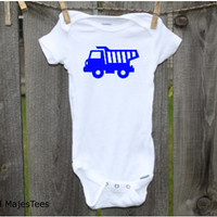 Dump Truck Onesuits®, Dumptruck, Construction Baby Shower