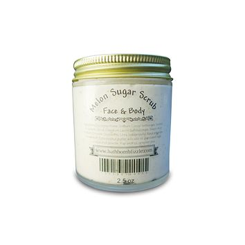 Melon Exfoliating Face and Body Sugar Scrub 2.5 oz