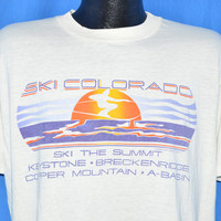 80s Ski Colorado Sunset t-shirt Large