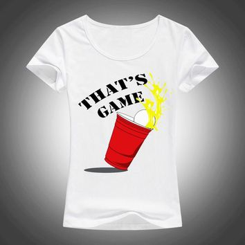 Thats Game - Beer Pong Game T-shirt - Women Top