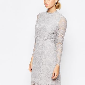 Coast Luella Long Sleeve Lace Dress