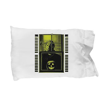 Michael Myers Halloween Window Pumpkin Scary Bedding Pillow Case