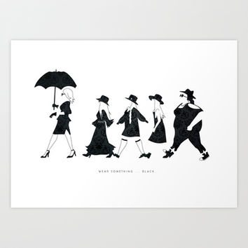 Wear something... black. ( American Horror Story ) Art Print by Benoit