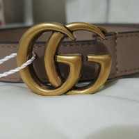 gucci marmont light pink nude gg belt THIN 1.5 cm, 90cm authentic