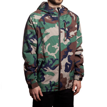 HUF - 10K TECH JACKET // WOODLAND CAMO