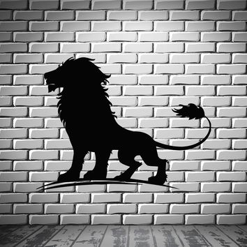 Lion Predator King Of Jungle Animal Kids Decor Wall MURAL Vinyl Art Sticker Unique Gift z774