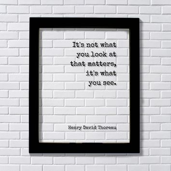 Henry David Thoreau - It's not what you look at that matters, it's what you see - Mindfulness Meditation Vision Awareness