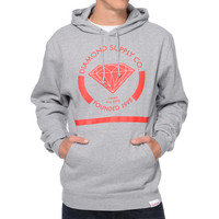Diamond Supply I Shine You Shine Grey & Red Pullover Hoodie at Zumiez : PDP