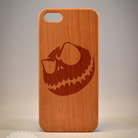 B023 (Nightmare) Laser engraved Wood case for iPhone4/4S/5 with mat plastic