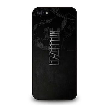 led zeppelin lyric iphone 5 5s se case cover  number 1