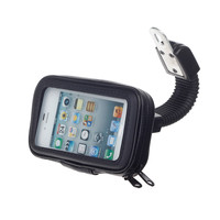 M08 Motorcycle Bicycle Water Resistant Holder   Stand for GPS   Cell Phone - Black
