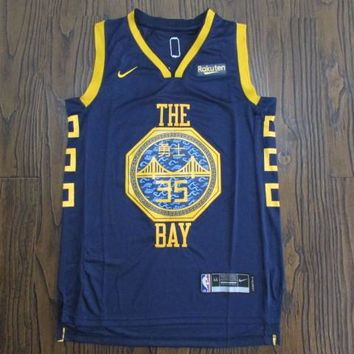 Men's Golden State Warriors Kevin Durant Nike Navy 2018/19 Swingman Jersey – City Edition - Best Deal Online