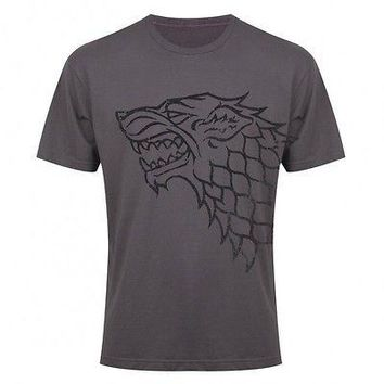 "Game Of Thrones HOUSE OF STARK ""DISTRESSED DIREWOLF SIGIL"" T-Shirt NWT Licensed"