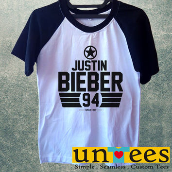 Justin Bieber Short Raglan Sleeves T-shirt