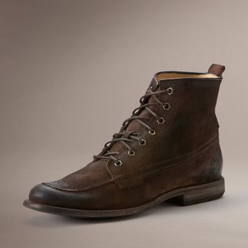 Dark Brown Phillip Work Boot by TheFryeCompany,