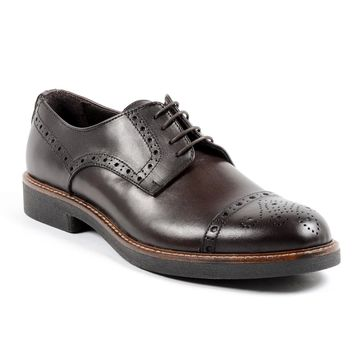 Andrew Charles Lou Mens Dark Brown Brogue Shoe