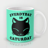 Everyday Is Caturday Mug by LookHUMAN