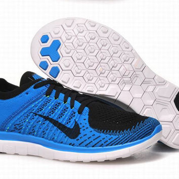"""NIKE"" Net surface breathable sneaker soft-soled running casual shoes Blue"