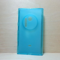 For Nokia Lumia 1020 Blue Soft TPU translucent Color Case Protective Silicone Back Case Cover