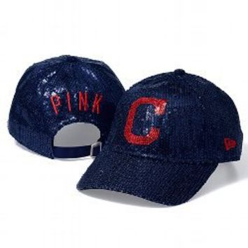Cleveland Indians Bling Baseball Hat - PINK - Victoria's Secret