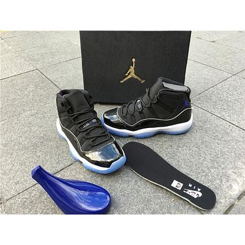 Air Jordan 11 Retro Mid Win Like 82 Mike Space Jam 11s Midnight Navy Blue Win Like 96 Gym Red Basketball Shoes