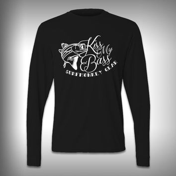 Kiss my Bass - Performance Shirt - Fishing Shirt - Decal Shirts
