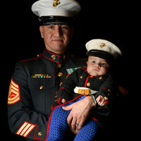 Marine costume Marine Corps baby USMC dress blues outfit you pick the size and colors Hobbyist License #11431