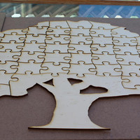 EXPRESS SHIPPING- Wedding puzzle guestbook puzzle - guest book - guestbook personalised wedding puzzle-Tree Wedding Puzzles-Guest book