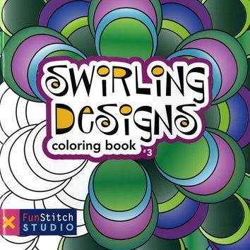 Swirling Designs Adult Coloring Book