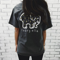 Black Short Sleeve T Shirt for Women