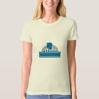 Umpire Referee Official Whistle Half Circle Retro T-Shirt