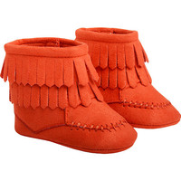 Kardashian Kids Girls Coral Fringe Soft Sole Bootie