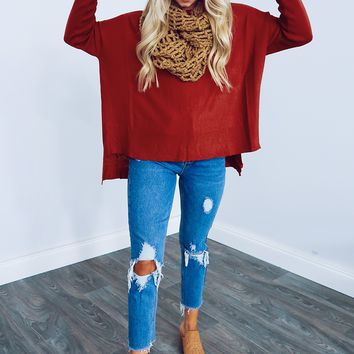 Here For You Top: Burnt Orange