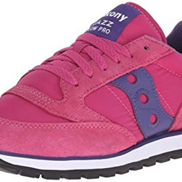 Saucony Originals Women's Jazz Lowpro Classic Retro Running Shoe, Pink/Purple, 8 M US
