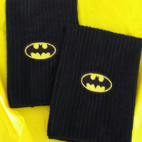 BATMAN DARK KNiGHT Towel Set Valentines Day Gift Idea for your Sweetie! PeRSonaLizaTiON is AVAiLAble FuN CouPLeS GiFT! Designs by Sugarbear