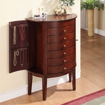 Demi Jewelry Armoire Vintage Mahogany Brown Finish