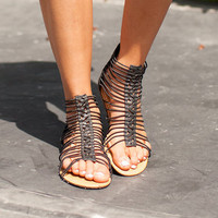 Secretive Summer Sandals Black