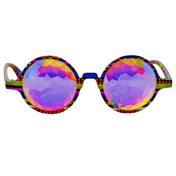 Tribal Kaleidoscope Glasses Flat Back Rainbow