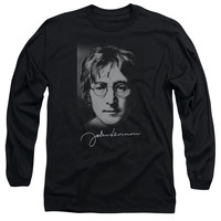 John Lennon Sketch Black Long-Sleeve T-Shirt