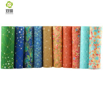 Multi Color Twill Cotton Fabric Patchwork Tissue Cloth Of Handmade DIY Quilting Sewing Baby&Children Sheets Dress 40*50cm