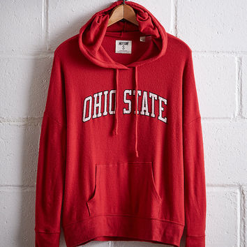 Tailgate Women's Ohio State Plush Hoodie, Red