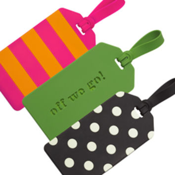 Kate Spade Off We Go Luggage Tag