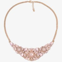Rhinestone Floral Bib Necklace | FOREVER 21 - 1031602548