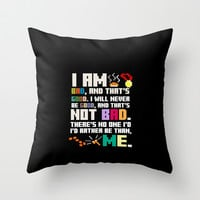Wreck it Ralph, Disney Pixar... Funny and inspirational... Bad guy creed.. Throw Pillow by studiomarshallarts