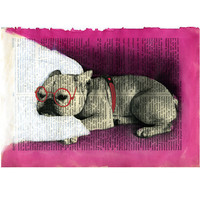 Dog Painting Original Mixed Media on page of by VincenzoRizzo