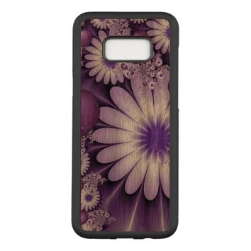 Falling in Love Abstract Flowers & Hearts Fractal Carved Samsung Galaxy S8+ Case