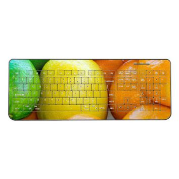 Lemon, Lime, and Orange Close-Up Photograph Wireless Keyboard