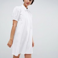ASOS DESIGN cotton swing mini shirt dress at asos.com